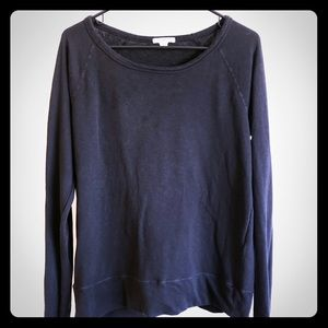 James Perse Faded Black Long Sleeve